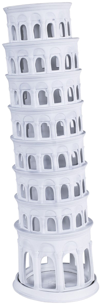 Tower of Pisa - Bisque Candle Holder