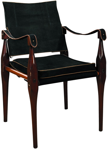 Rhoorkie Empire Leather Campaign Chair