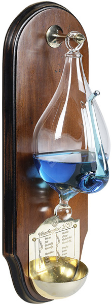 Weather Glass with Wall Plaque